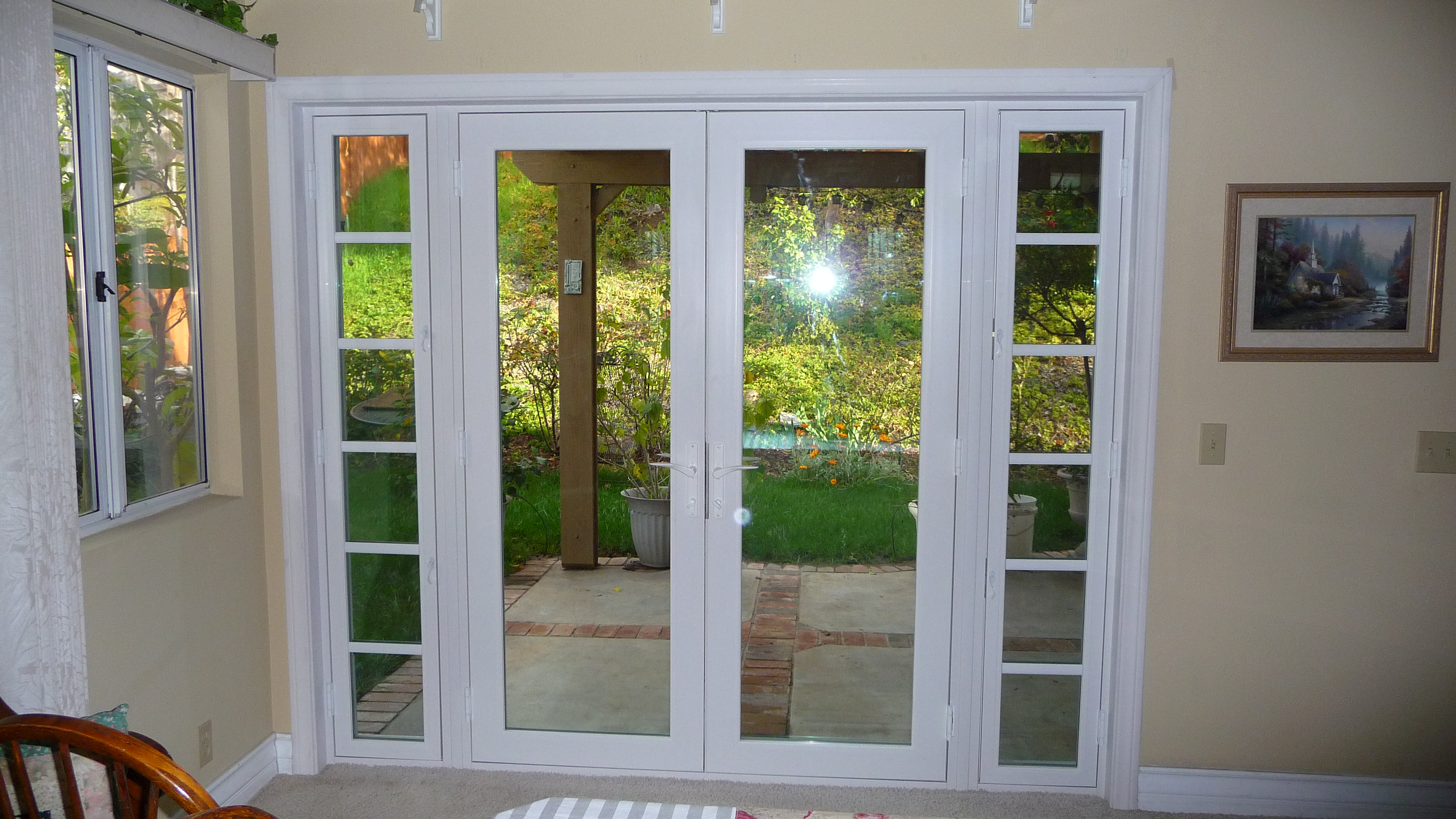2088 #455F2B French Doors Patio Sidelites Coughlin Windows And Doors pic Patio Doors With Side Windows 44913712