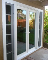 Vinyl French Door with Sidelights